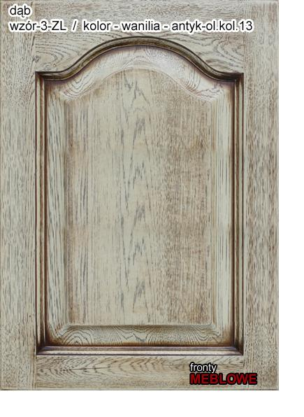Fronty drewniane patynowane